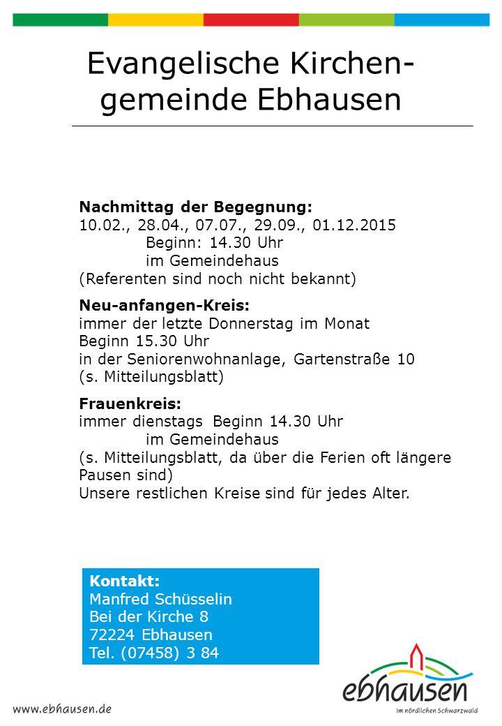 Evangelische Kirchen-gemeinde Ebhausen