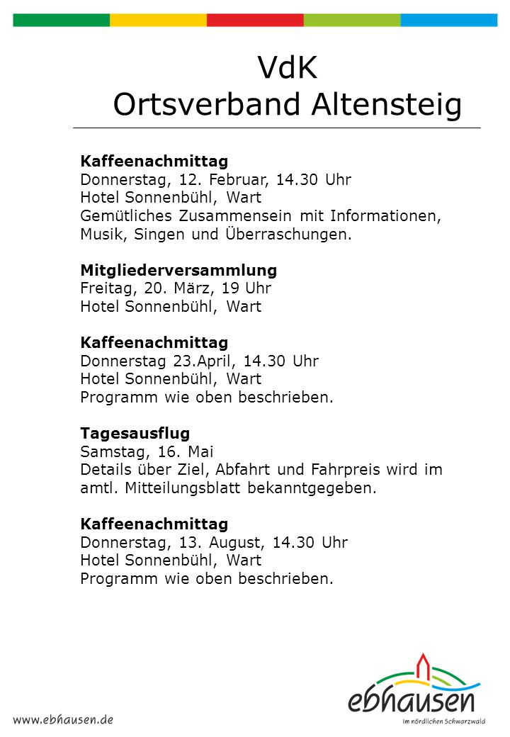 VdK Ortsverband Altensteig