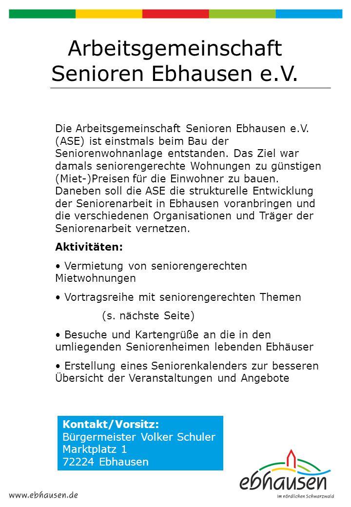 Arbeitsgemeinschaft Senioren Ebhausen e.V.