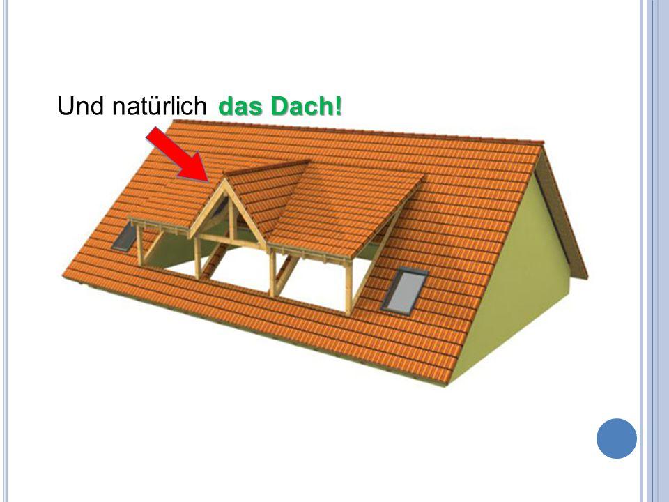 Und natürlich das Dach!