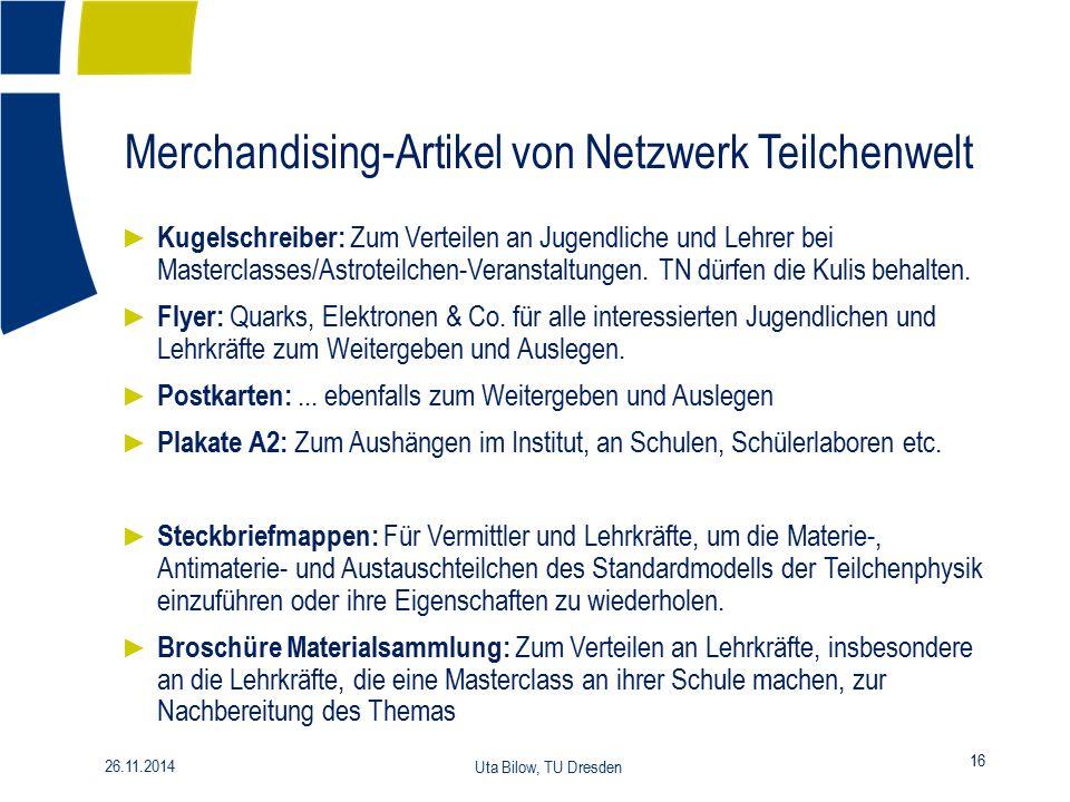 Merchandising-Artikel von Netzwerk Teilchenwelt