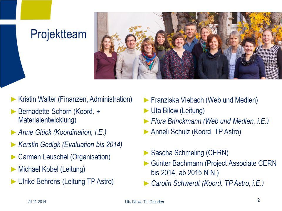 Projektteam Kristin Walter (Finanzen, Administration)