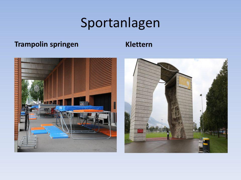 Sportanlagen Klettern Trampolin springen