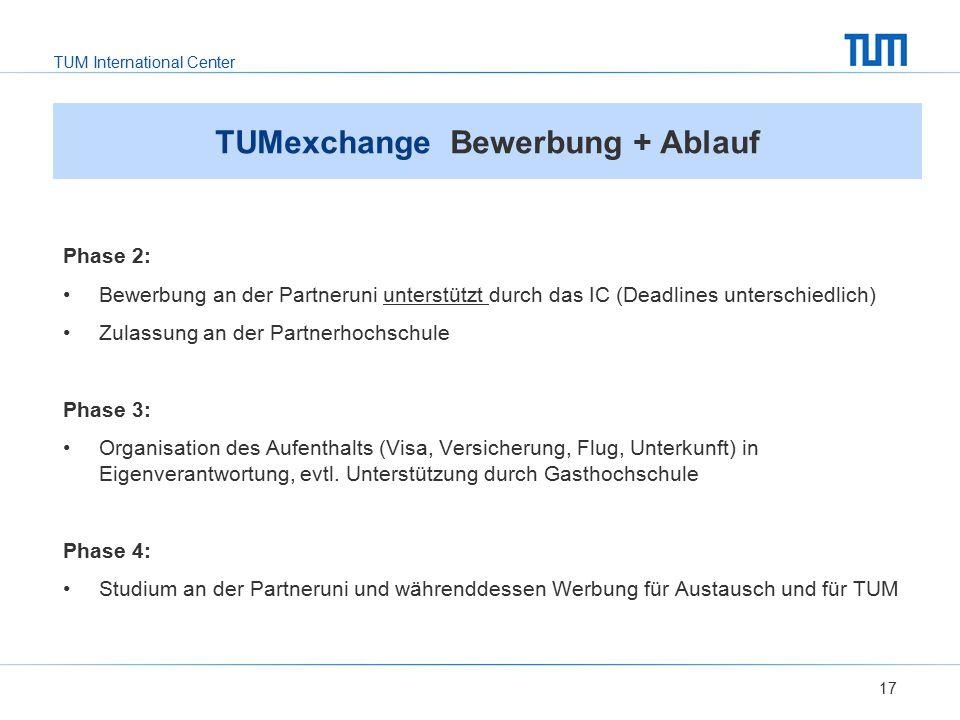 TUMexchange Bewerbung + Ablauf