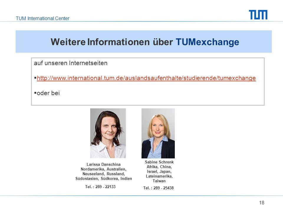 Weitere Informationen über TUMexchange