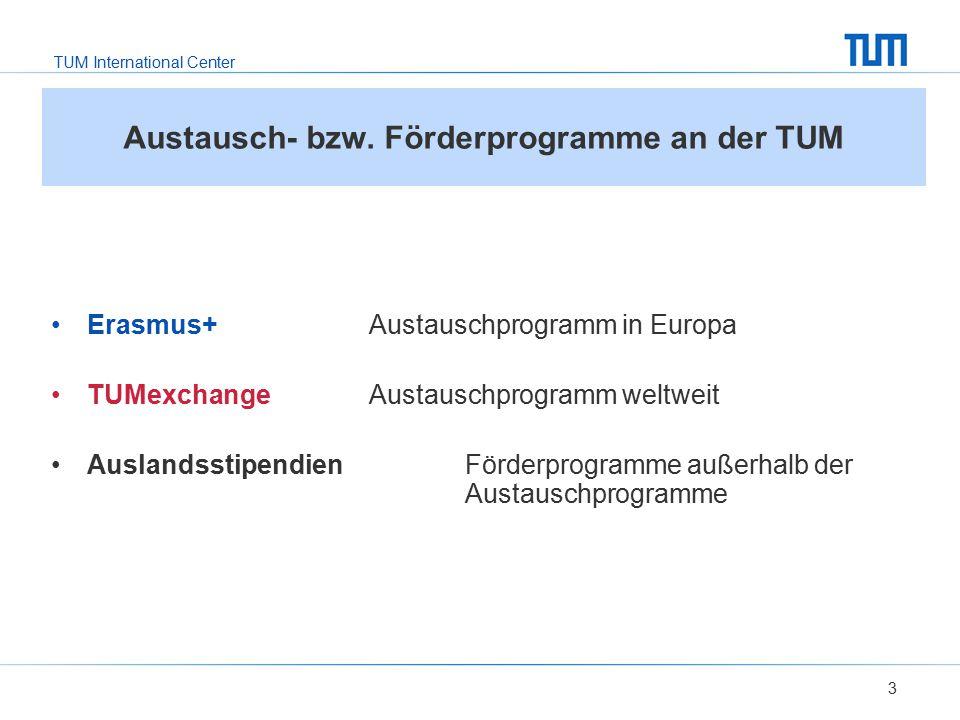 Austausch- bzw. Förderprogramme an der TUM