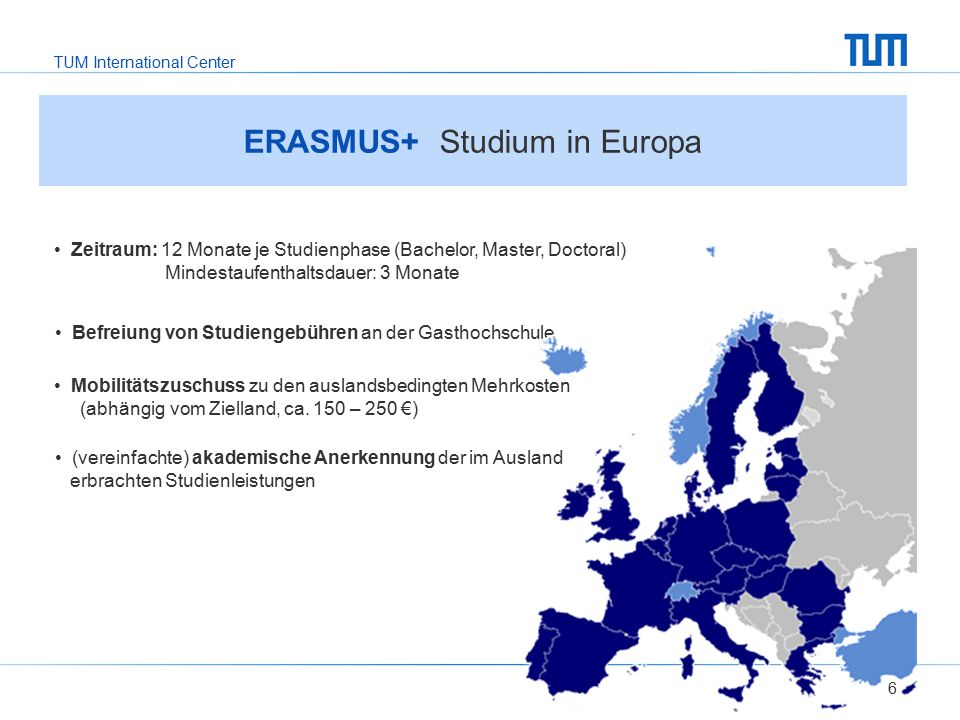 ERASMUS+ Studium in Europa