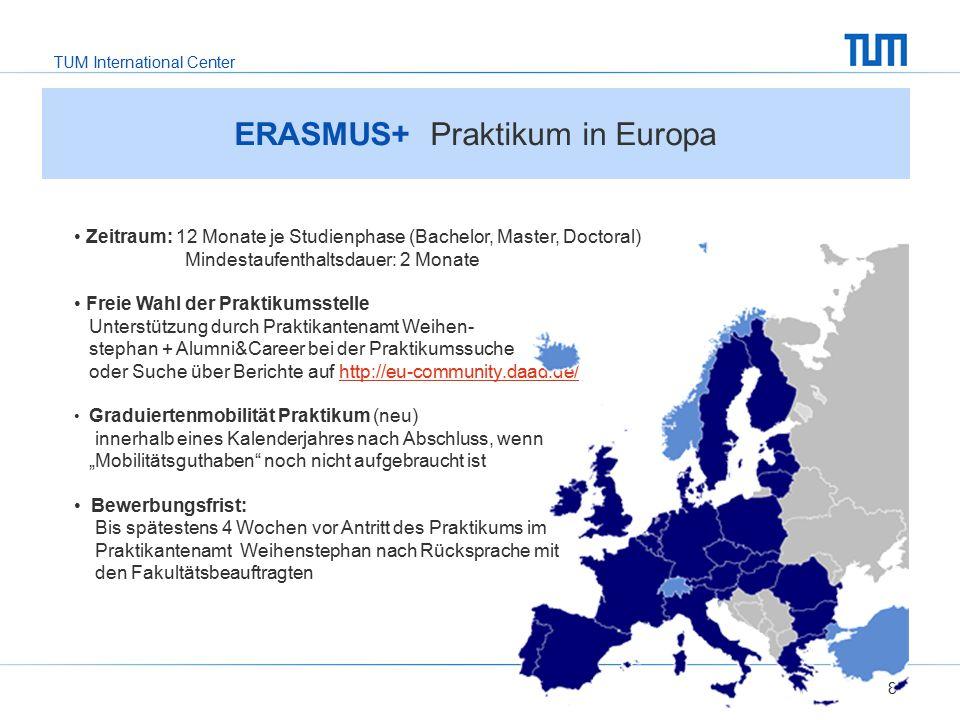 ERASMUS+ Praktikum in Europa