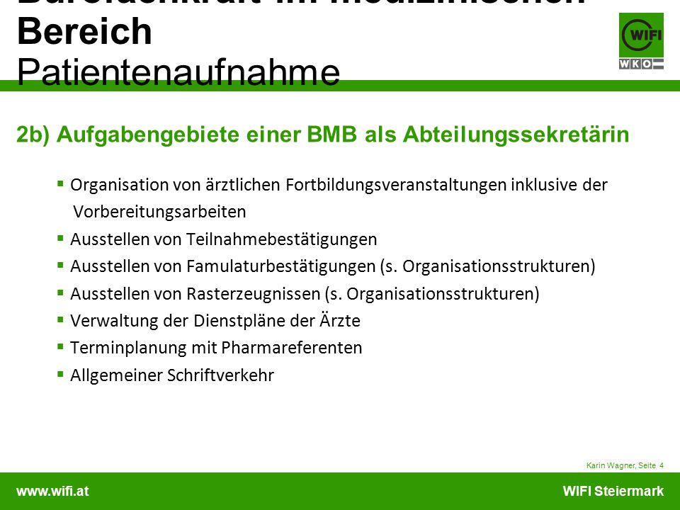 2b) Aufgabengebiete einer BMB als Abteilungssekretärin