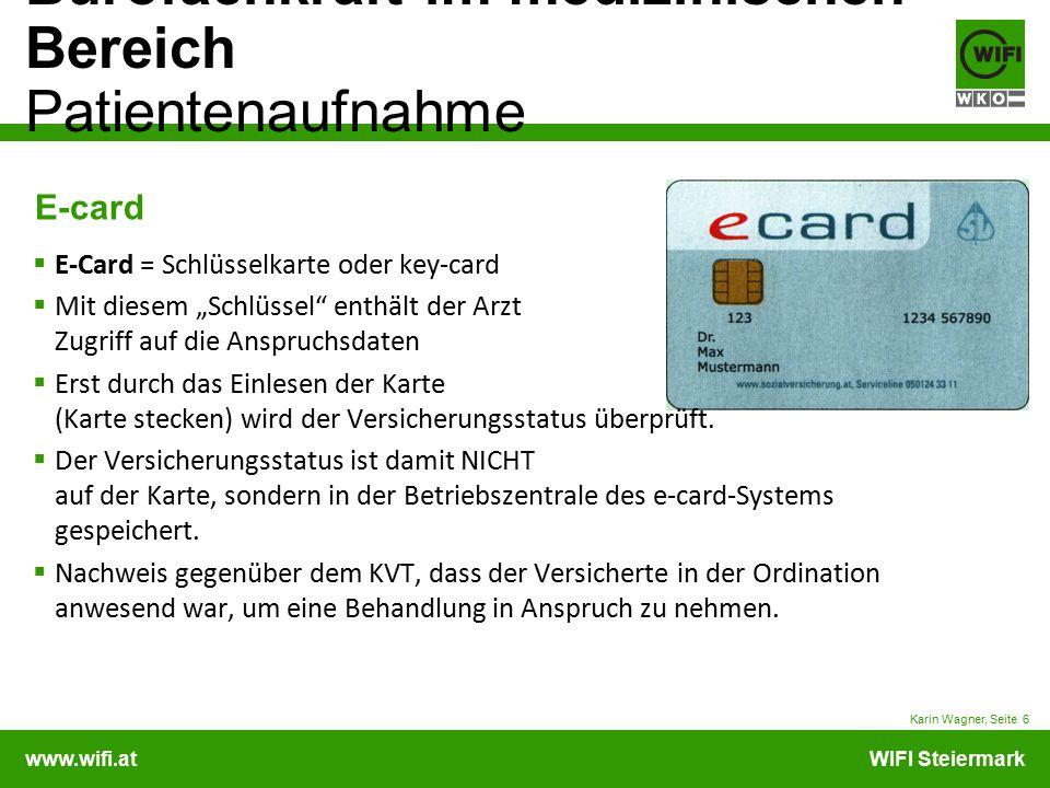 E-card E-Card = Schlüsselkarte oder key-card