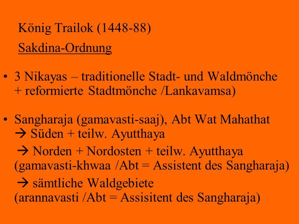 König Trailok (1448-88) Sakdina-Ordnung