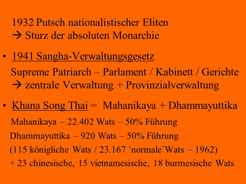 1932 Putsch nationalistischer Eliten  Sturz der absoluten Monarchie