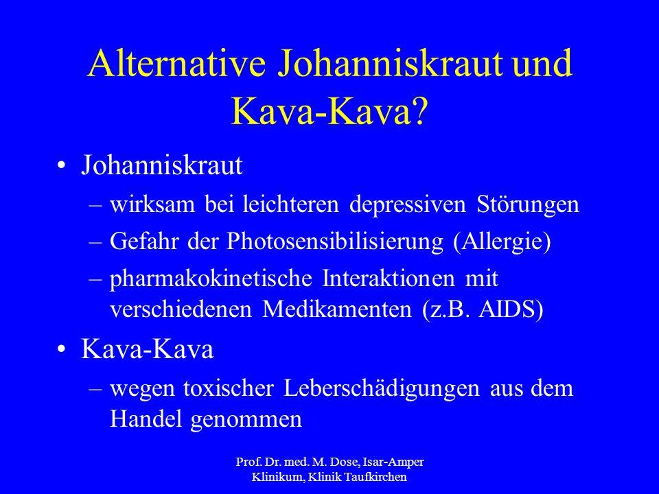 Alternative Johanniskraut und Kava-Kava
