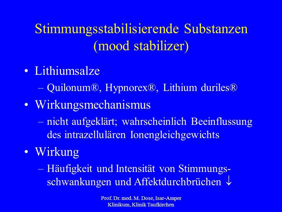 Stimmungsstabilisierende Substanzen (mood stabilizer)