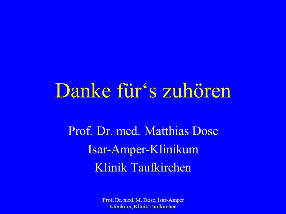 Prof. Dr. med. Matthias Dose Isar-Amper-Klinikum Klinik Taufkirchen