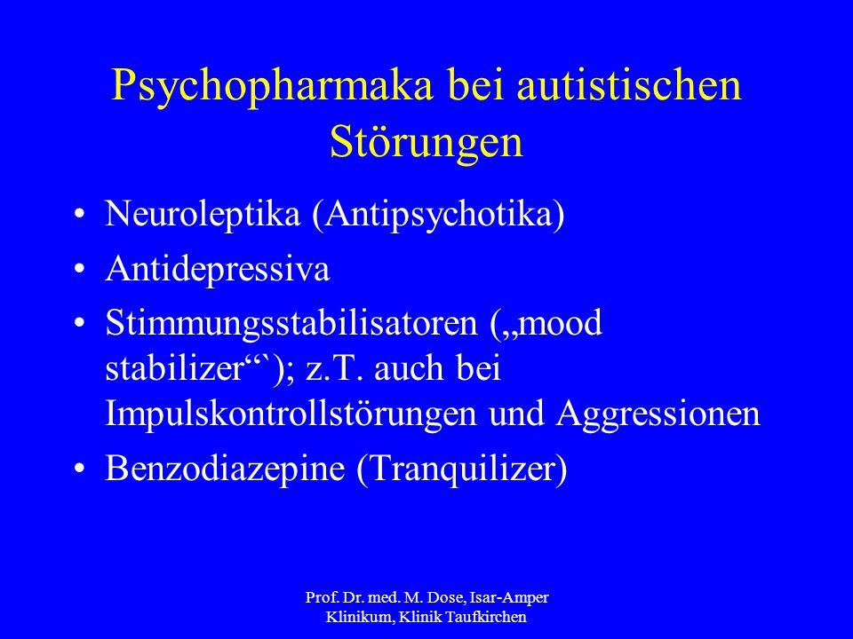 Psychopharmaka bei autistischen Störungen