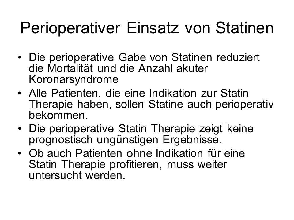Perioperativer Einsatz von Statinen