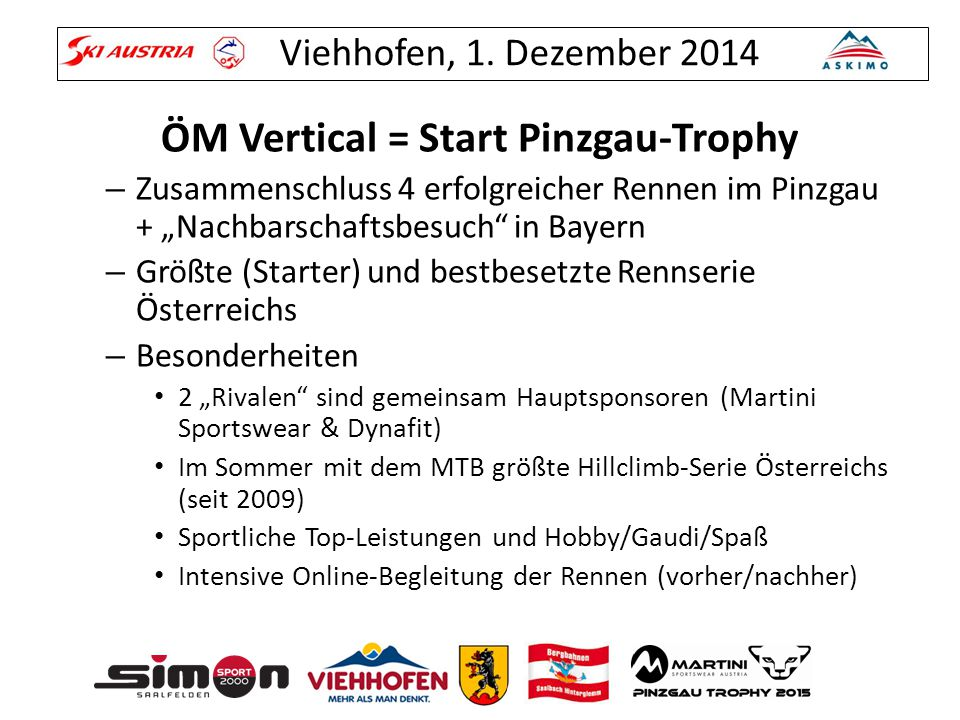 ÖM Vertical = Start Pinzgau-Trophy