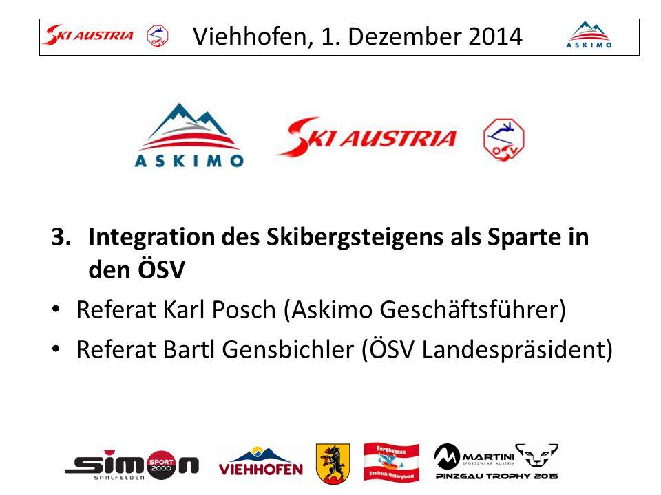 Integration des Skibergsteigens als Sparte in den ÖSV