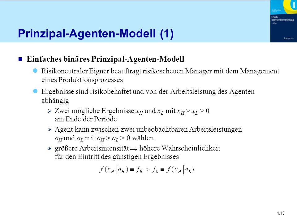 Prinzipal-Agenten-Modell (1)
