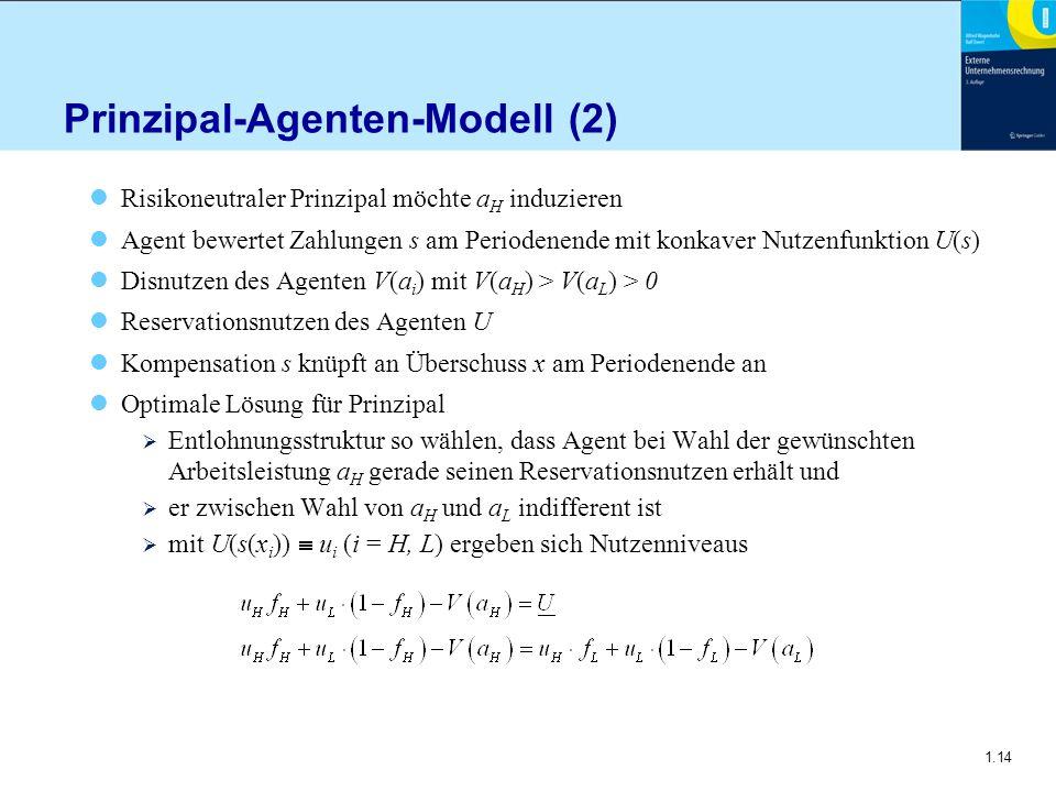 Prinzipal-Agenten-Modell (2)