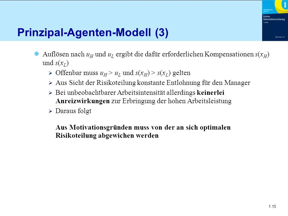 Prinzipal-Agenten-Modell (3)