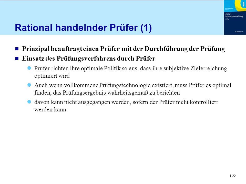 Rational handelnder Prüfer (1)