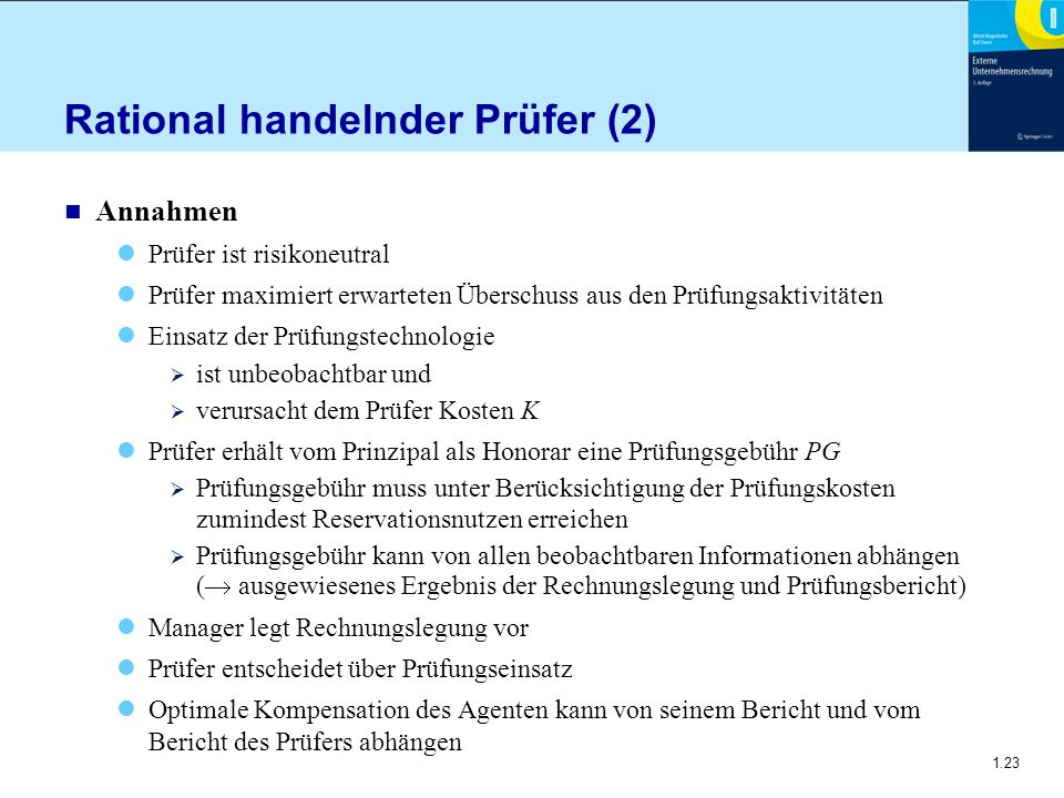 Rational handelnder Prüfer (2)