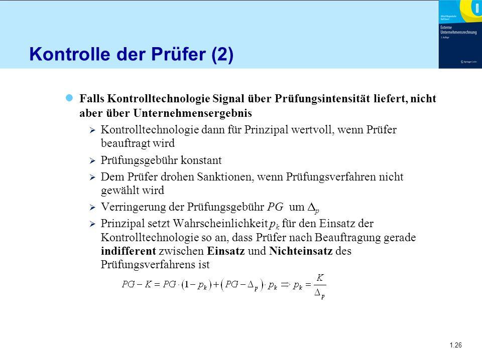 Kontrolle der Prüfer (2)