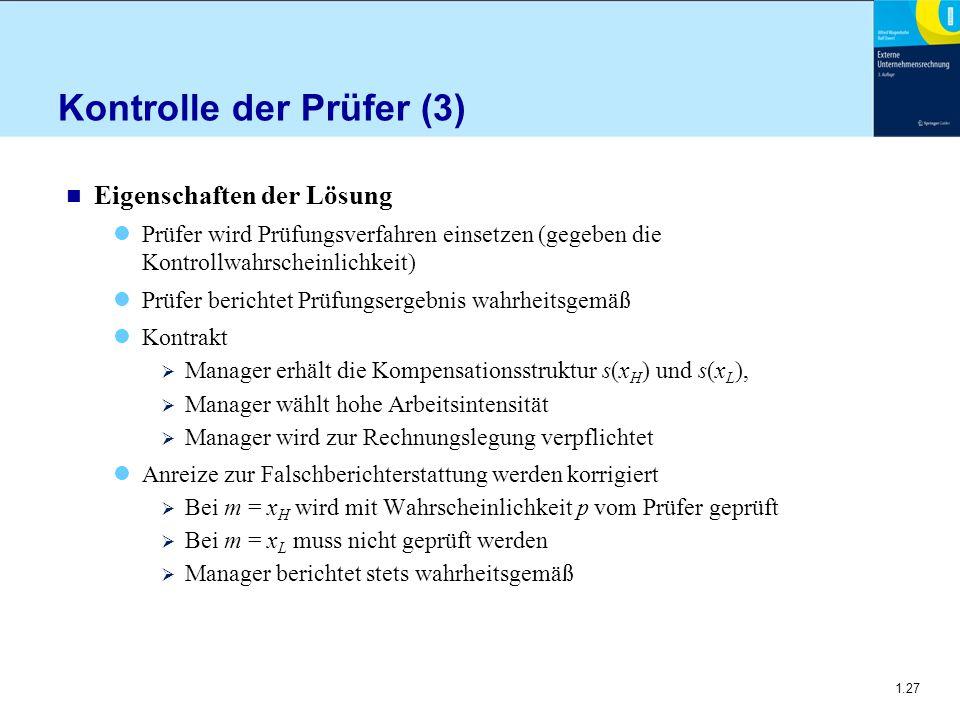 Kontrolle der Prüfer (3)