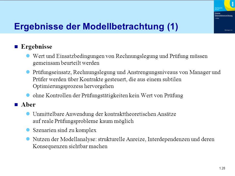 Ergebnisse der Modellbetrachtung (1)