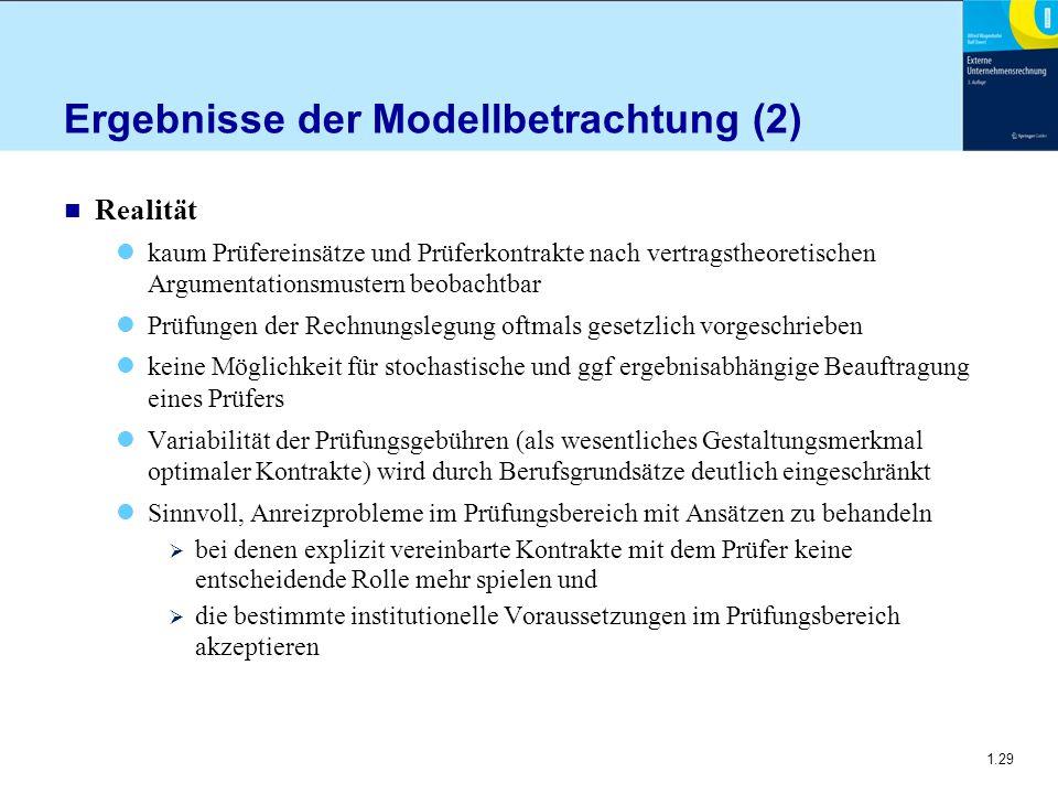 Ergebnisse der Modellbetrachtung (2)