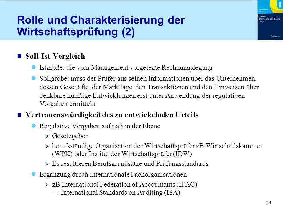 Rolle und Charakterisierung der Wirtschaftsprüfung (2)