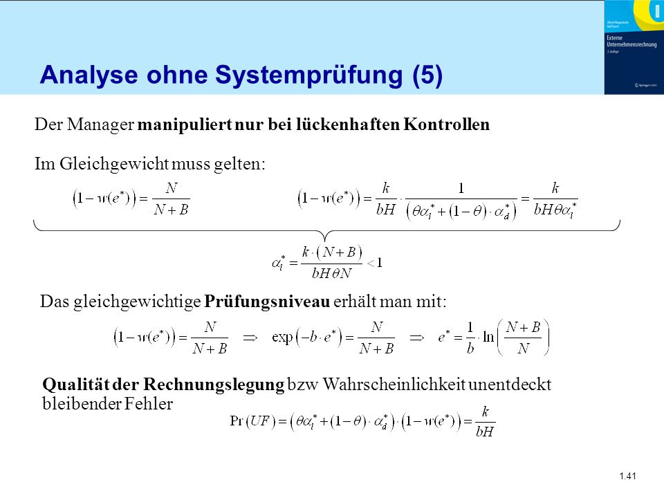 Analyse ohne Systemprüfung (5)