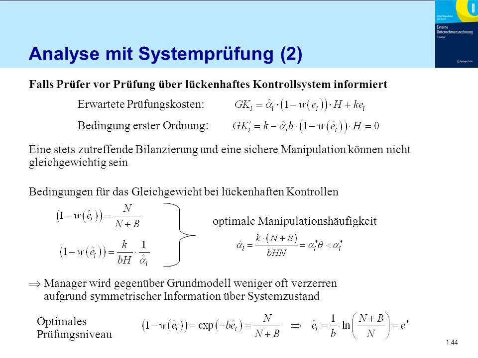 Analyse mit Systemprüfung (2)