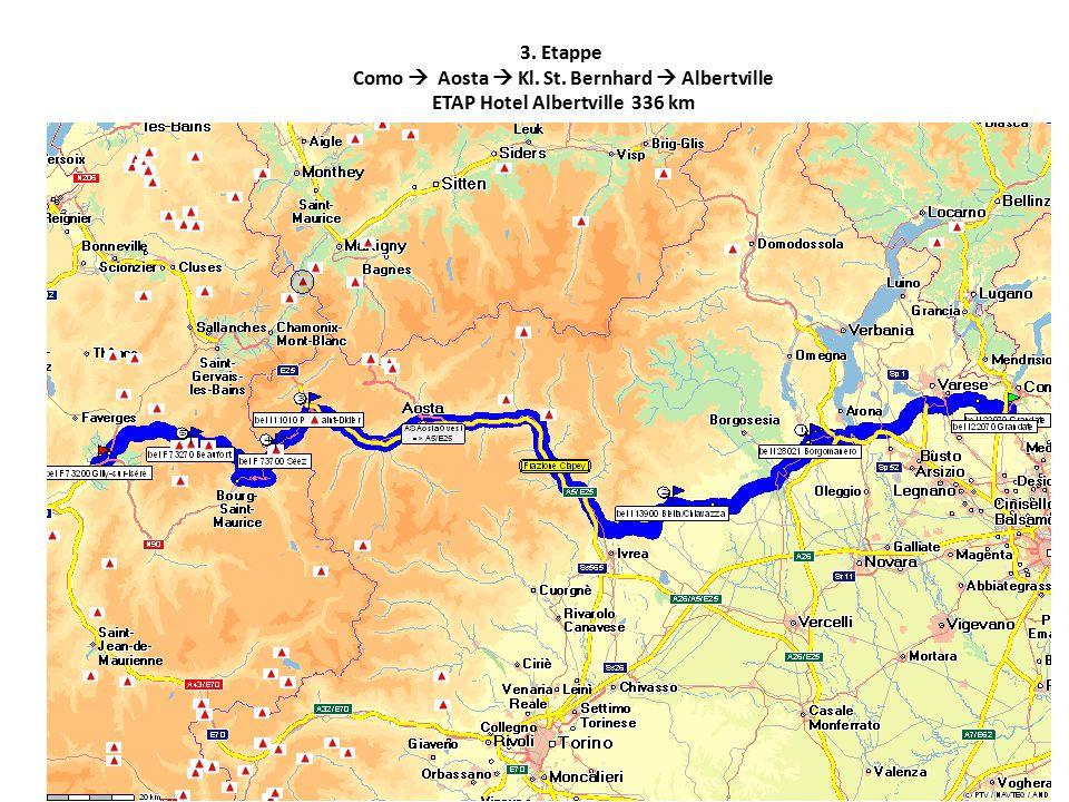 3. Etappe Como  Aosta  Kl. St