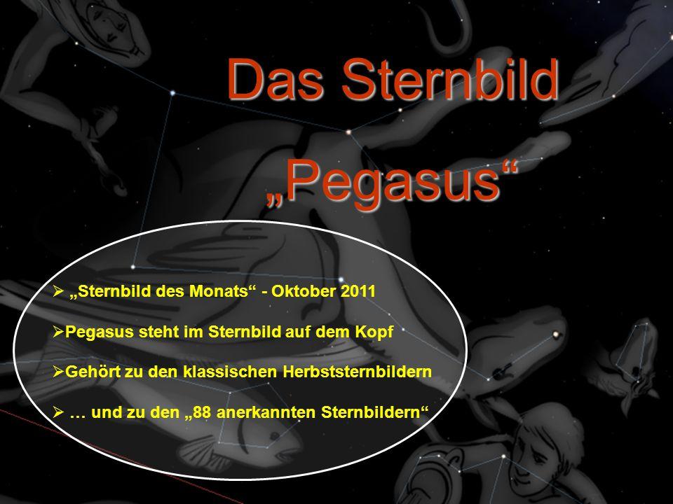 "Das Sternbild ""Pegasus ""Sternbild des Monats - Oktober 2011"