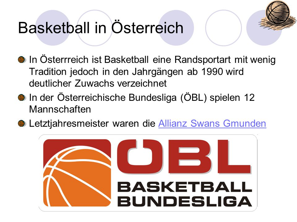 Basketball in Österreich