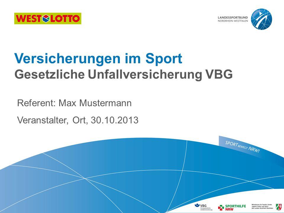 Versicherungen im Sport Gesetzliche Unfallversicherung VBG