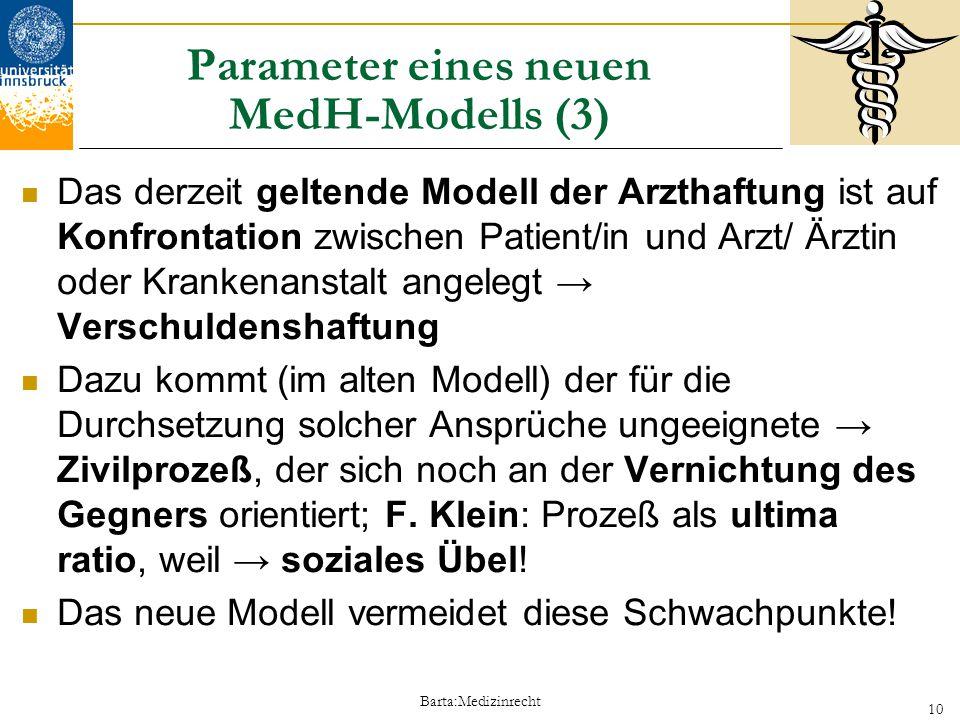 Parameter eines neuen MedH-Modells (3)