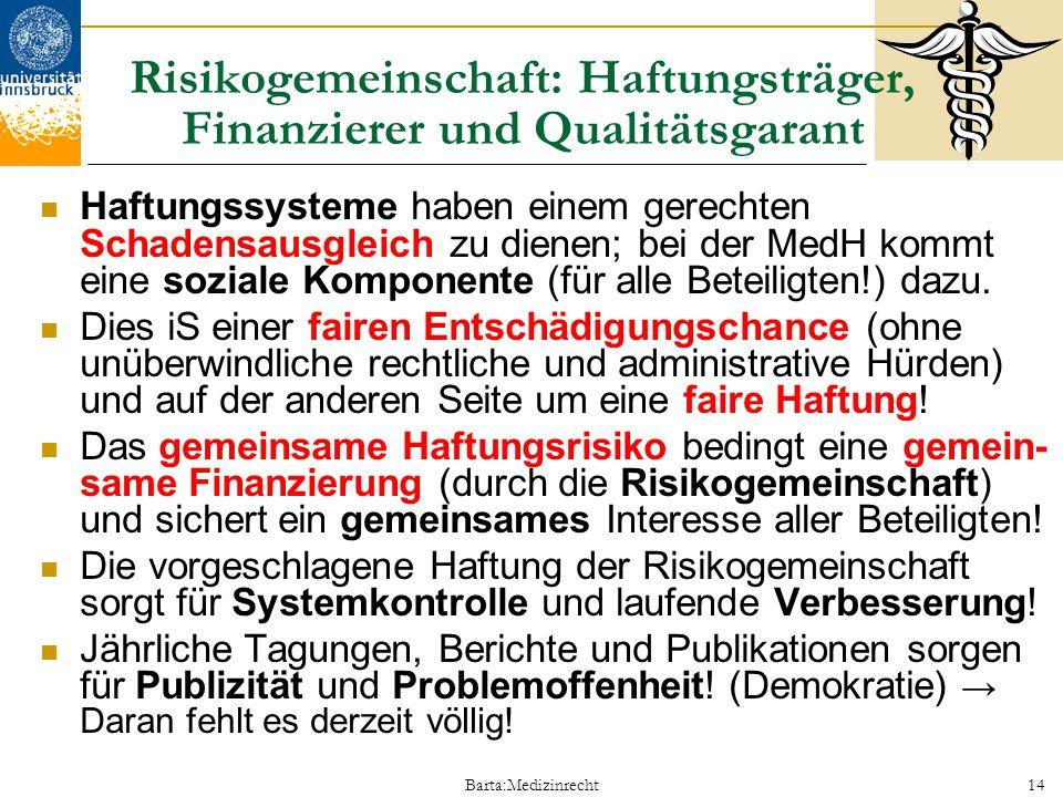 Risikogemeinschaft: Haftungsträger, Finanzierer und Qualitätsgarant