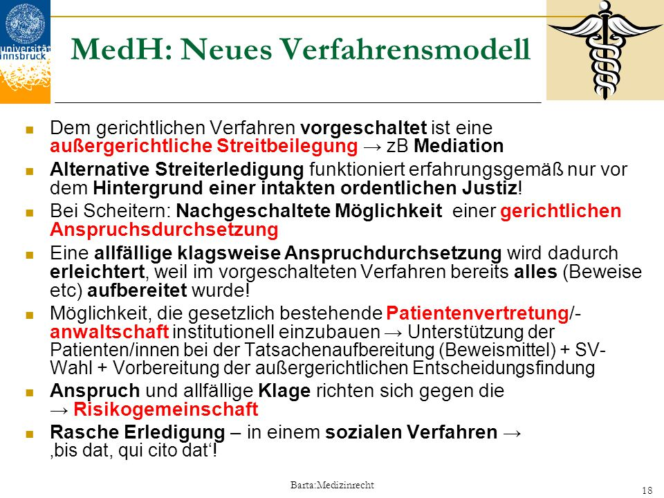 MedH: Neues Verfahrensmodell