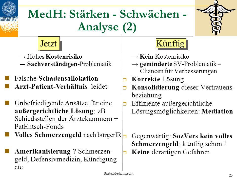 MedH: Stärken - Schwächen - Analyse (2)