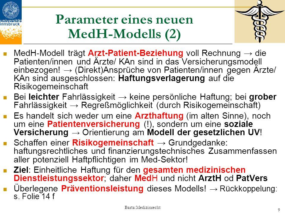 Parameter eines neuen MedH-Modells (2)