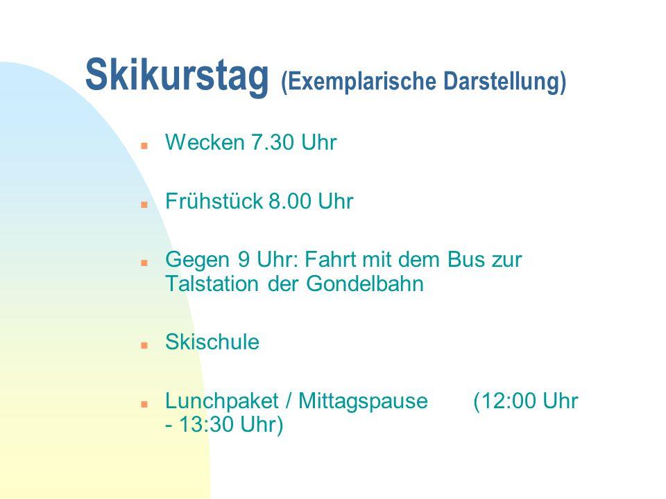 Skikurstag (Exemplarische Darstellung)