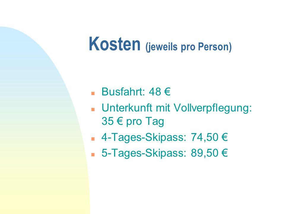 Kosten (jeweils pro Person)