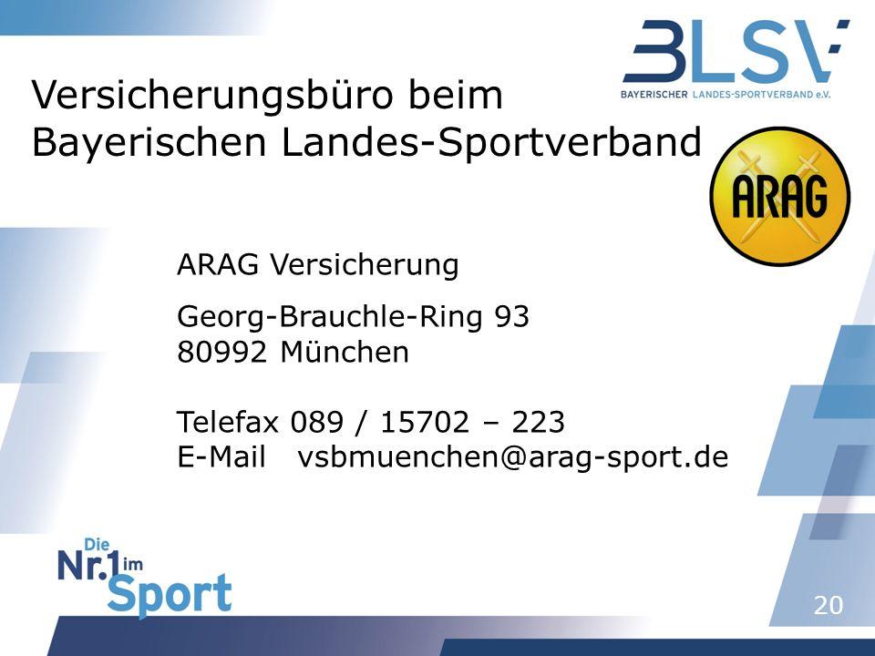 Versicherungsbüro beim Bayerischen Landes-Sportverband