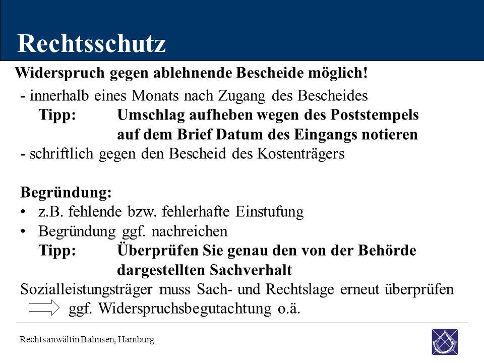 Rechtsschutz Widerspruch gegen ablehnende Bescheide möglich!