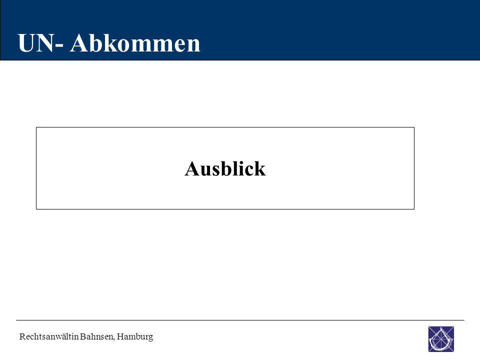 UN- Abkommen Ausblick Rechtsanwältin Bahnsen, Hamburg 35