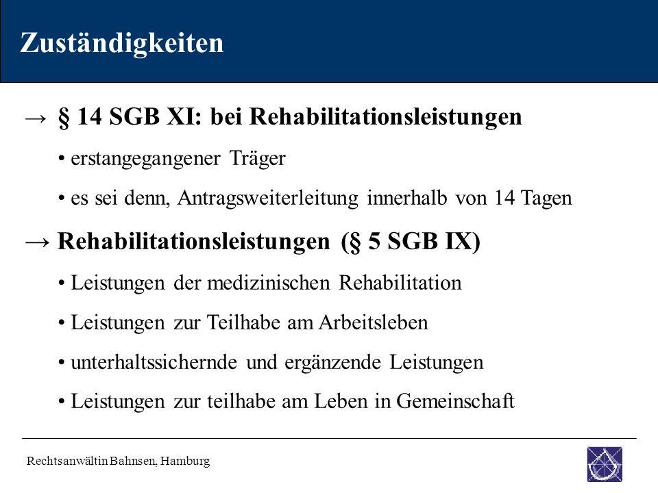 Zuständigkeiten → Rehabilitationsleistungen (§ 5 SGB IX)